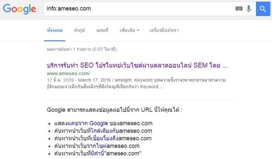 info seo command
